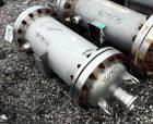 Used- Chemineer Shell & Tube Heat Exchanger, 38 Square Feet, Horizontal. 304 Stainless steel shell rated 150 psi at 100 degr...