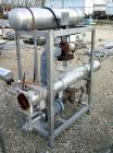 USED:Enfab 4 pass shell and tube heat exchanger, 12 sq ft, modelSA4C4, 316 stainless steel, horizontal. 316 stainless steel ...
