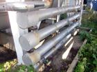 Used- Stainless Steel Enerquip Shell & Tube Heat Exchanger, Approximately 39.9 Square Feet, horizontal