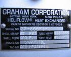 Unused-Graham Corp Heliflow Heat Exchanger, R30SF-18L. Copper tubes, brass manifolds, fabricated carbon steel casing and bas...