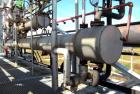Used- Stainless Steel Horizontal Enerquip Shell & Tube Heat Exchanger, Approximately 211 Square Feet