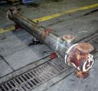 Used- Multi Pass Shell and Tube Heat Exchanger, 119 square feet, horizontal. 316 stainless steel shell, no rating. (76) 3/4