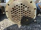 Used- Pfaudler Shell & Tube Heat Exchanger, 99 Square Feet, Horizontal.
