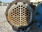 Used- Pfaudler 4 Pass Shell & Tube Heat Exchanger, 99 Square Feet, Horizontal.