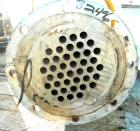 USED: Roben shell and tube heat exchanger, 36 sq ft, 304 stainless steel. 2 piece bolt together carbon steel shell rated 50 ...