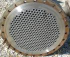 Used- Wolfe Mechanical and Equipment Single Pass Shell and Tube Heat Exchanger, 784 square feet, vertical. 304 Stainless ste...