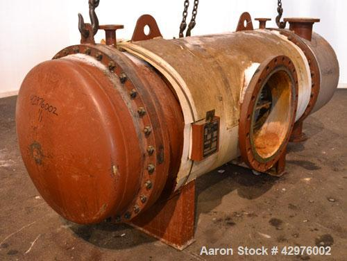 Used- Horizontal Trumbo Incorporated Multiple Pass Shell & Tube Heat Exchanger,