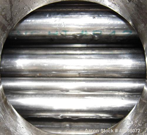 Used- Yula U Tube Heat Exchanger, 58 Square Feet, Stainless Steel, Horizontal, Model WCV-2D-66BS. 316L stainless steel shell...