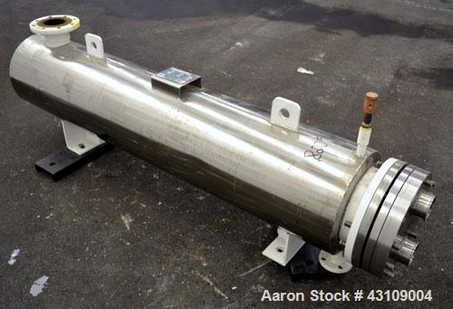 Used- Yula Corporation U Tube Heat Exchanger, approximately 103 square feet, horizontal, model CV-2D-60AAS. Carbon steel she...