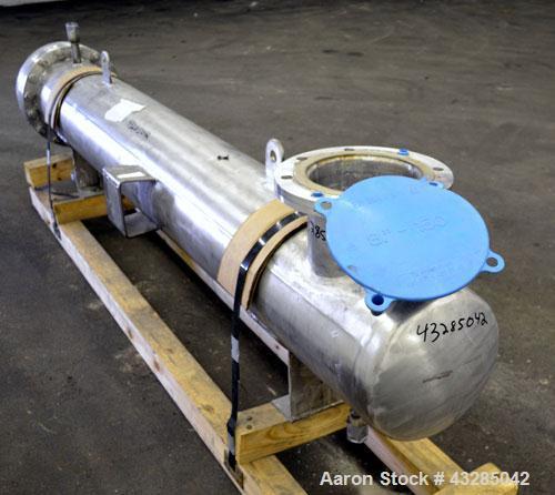 Used- Yula U Tube Shell & Tube Heat Exchanger, 144 Square Feet, Model CV-6E-84AS. 316L Stainless steel tubes, 304L tube shee...