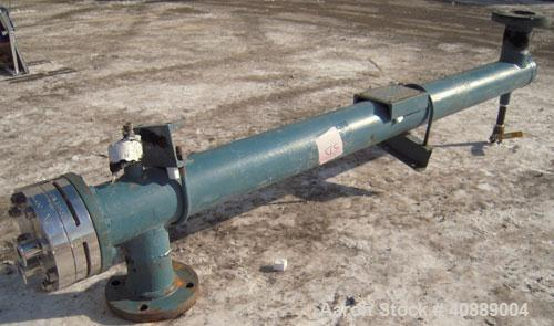 Used- Yula U Tube Heat Exchanger, ModelWCV-4AA-60AS. Approximately 3.68 square feet, horizontal. Carbon steel shell rated 15...