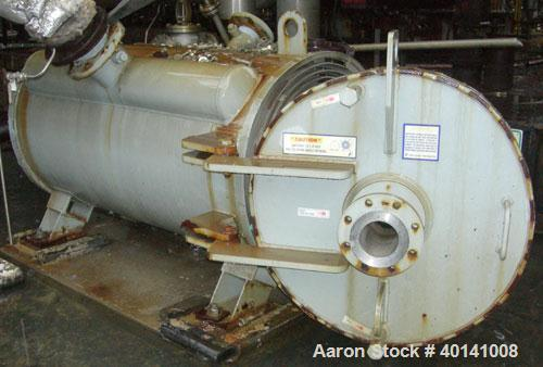 Used: Alfa Laval Thermal American heat treat spiral heat exchanger, 580 square feet, type 1-H, carbon steel heads.  Internal...