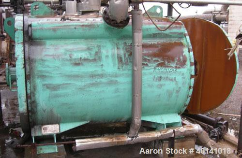 Used: American Heat Reclaim spiral heat exchanger, 1,690 square feet, type 1-H, carbon steel heads.  Internal: carbon steel,...