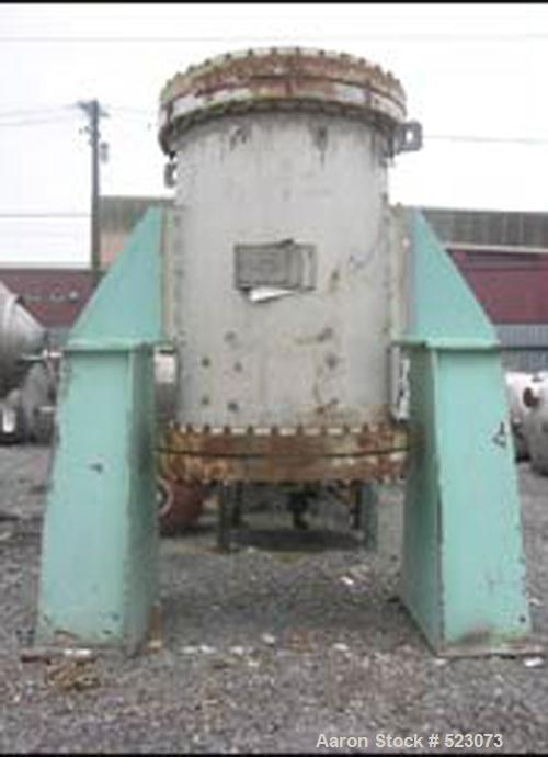 USED: (1) 731 square foot Kurose spiral heat exchanger, 304 stainless steel construction, 4' diameter x 5' straight side, ra...
