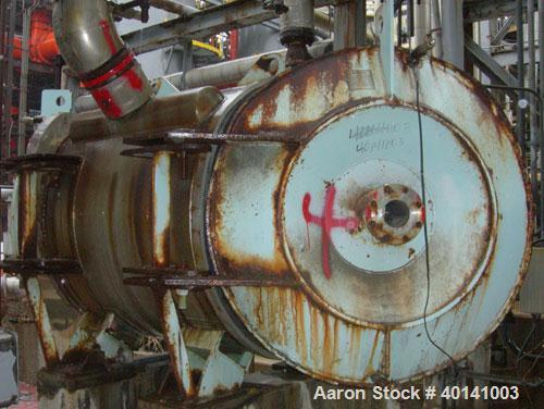 Used- Alfa Laval Thermal Horizontal Spiral Heat Exchanger, model 1H. 860 square feet, 316L stainless steel product contact a...