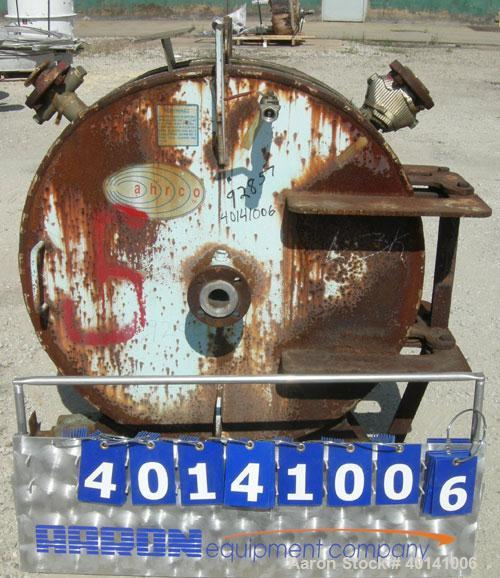 Used- Alfa Laval Thermal Horizontal Spiral Heat Exchanger, model 1H, 100 square feet, 316L stainless steel product contact a...
