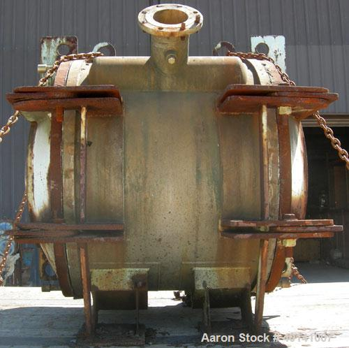Used- Alfa Laval Thermal Horizontal Spiral Heat Exchanger, Model 1H. 495 Square feet, 316L stainless steel product contact a...