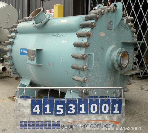 Used- Alfa Laval Horizontal Spiral Heat Exchanger, Model 1-H, 930 Square Feet, 316L Stainless Steel Product Contact Areas. H...