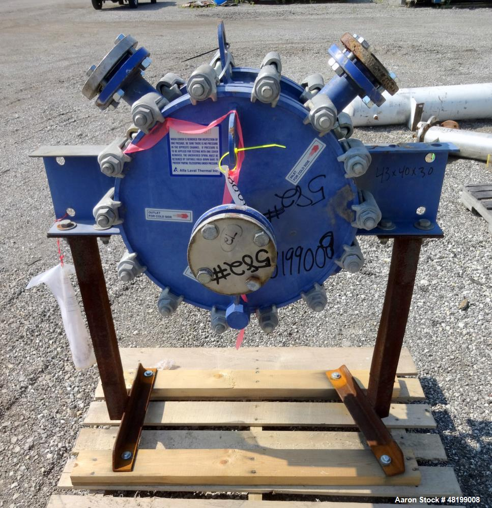 Used- Alfa Laval Horizontal Spiral Heat Exchanger, Model 1-H, 25 Square Feet, 31