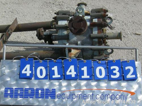Used- Alfa Laval Thermal vertical spiral heat exchanger, model 1C, 25 square feet, stainless steel product contact areas. Ho...