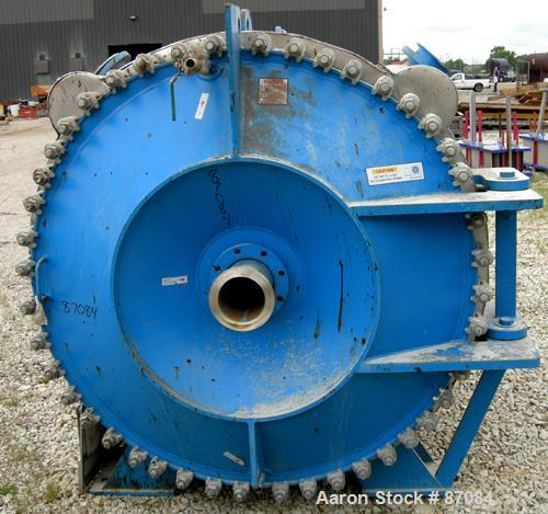 USED: Alfa Laval horizontal spiral heat exchanger, model 1H, 2200 square feet, 316/316L stainless steel product contact area...