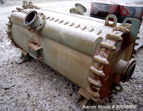 Used-Alfa Laval Spiral Heat Exchanger, 860 square feet, 316 stainless steel.  Type 1-H.  188 USG capacity.  Rated 50 psi @ 3...
