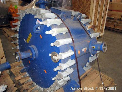 Used-Alfa Laval spiral type 1-V heat exchanger, 400 square feet. Max allowable working pressure: 150 psi at 400 deg F. Min d...