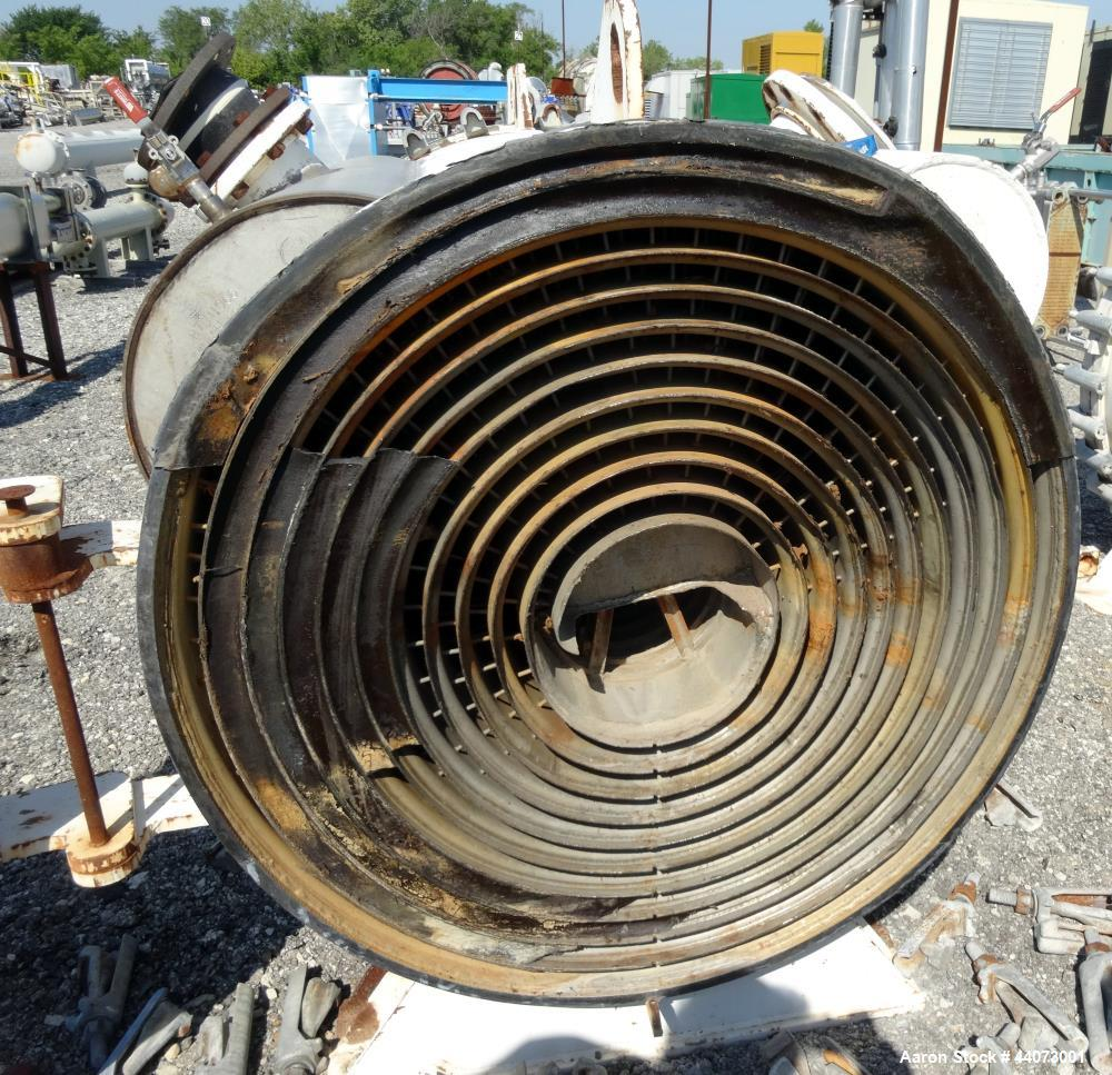 Used- Stainless Steel Alfa-Laval Horizontal Spiral Heat Exchanger, Type 1-H
