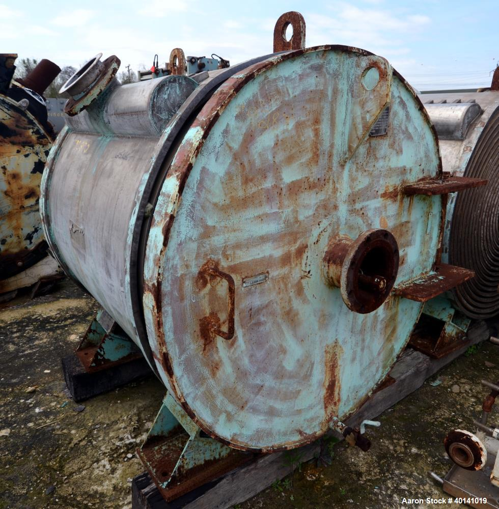 Used- Stainless Steel American Heat Reclaiming Horizontal Spiral Heat Exchanger,