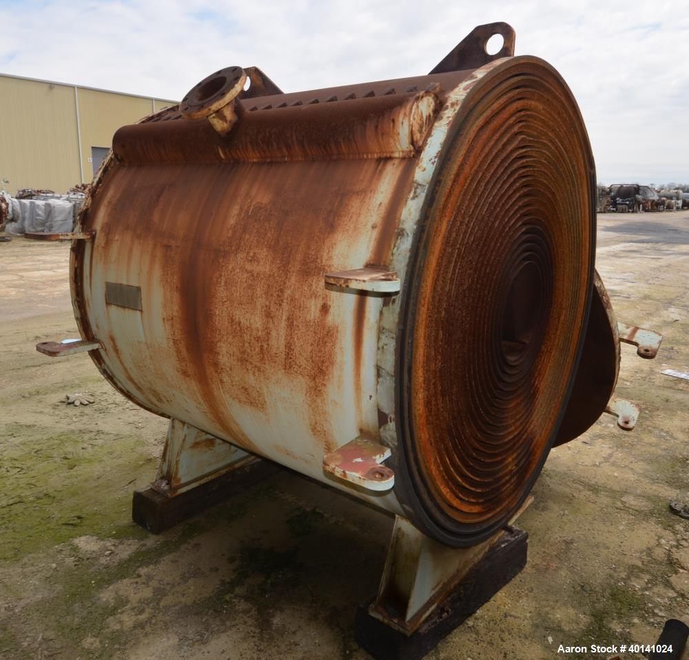 Used- Carbon Steel American Heat Reclaiming Horizontal Spiral Heat Exchanger, Type 1H