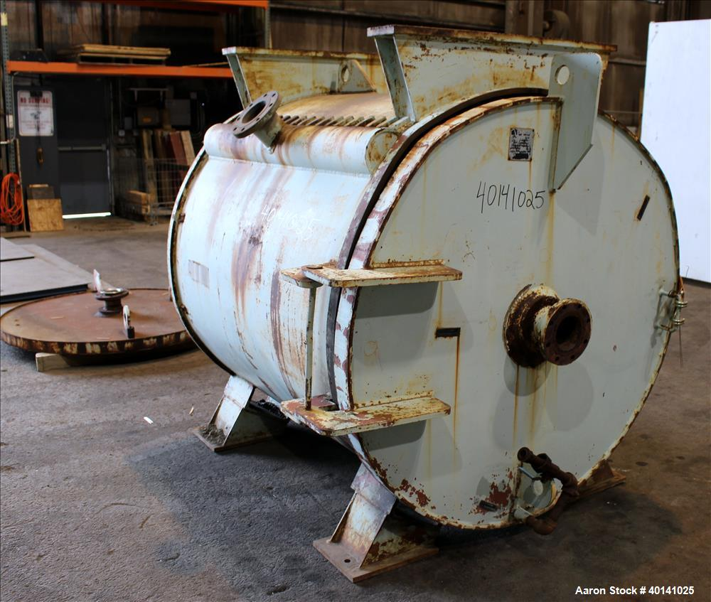 Used- Carbon Steel American Heat Reclaiming Horizontal Spiral Heat Exchanger, Ty