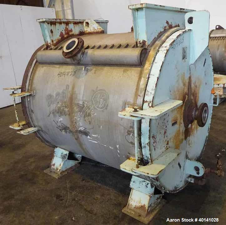 Used- American Heat Reclaiming Horizontal Spiral Heat Exchanger, Type 1H
