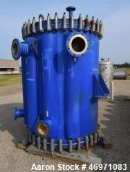 Used- Alfa Laval Spiral Heat Exchanger, Model 1V-L-2C, 1780 Square Feet, 316L Stainless Steel. Hot & cold sides rated 100 ps...