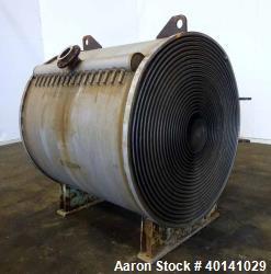 Used- American Heat Reclaiming Horizontal Spiral Heat Exchanger, Type 1H