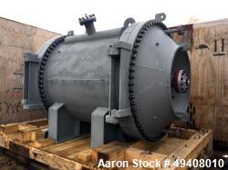 Unused- Tranter Spiral Heat Exchanger. Diameter 1920 mm. Length 2003 mm. Max pressure FV/355 psi. Temperature -45/200° C. Ac...