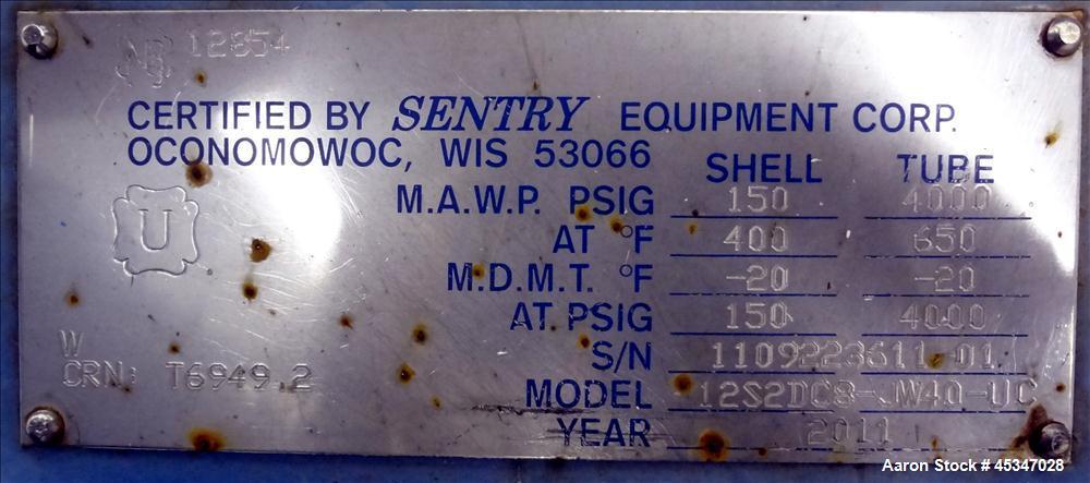 Used-Sentry Spiral Heat Exchanger, Model PN 7-02890N