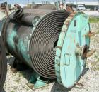 Used- American Heat Reclaiming Horizontal Spiral Heat Exchanger, type 1H, 1060 square feet, 316 stainless steel. Hot and col...