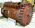 Used- American Heat Reclaiming Vertical Spiral Heat Exchanger, Model 1-VC. 1280 square feet, carbon steel. Hot and cold side...