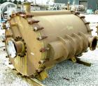 Used- Graham Manufacturing Vertical Spiral Heat Exchanger, 755 square feet, carbon steel. Hot and cold side rated 75 psi at ...