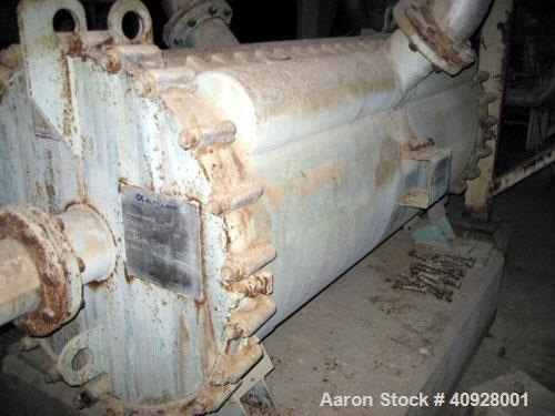 Used-Alfa Laval Spiral Heat Exchanger, 1,385 square feet, 316 stainless steel. Type 1-H.  437 USG capacity.  Rated 60 psi @ ...