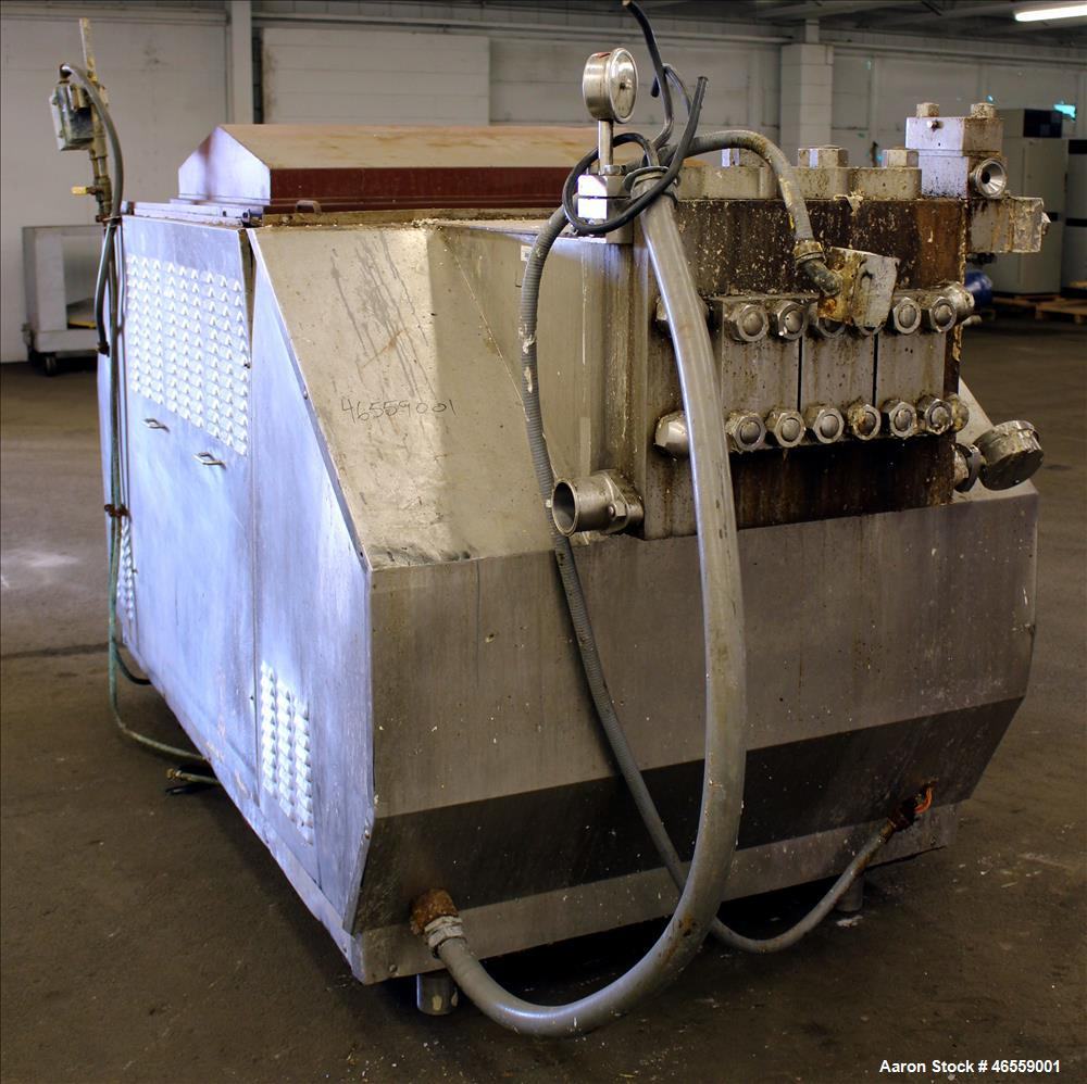 Used- APV Dual Stage Homogenizer, Model 2400M8453TBS, 2,400 Gallons Per Hour, Stainless Steel. 3000 PSI with Stainless Steel...