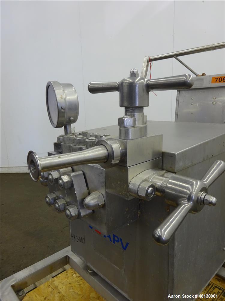 Used -APV Gaulin GMBH Homoginizer, Type LAB60/125-6TBS, 316 Stainless Steel.