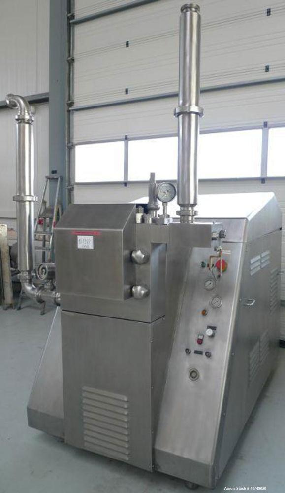 Used-aPV Gaulin 3763 MC 45 Homogenizer.  Quantity 4000 gallons/hour (15000 liters/hour).  Maximum operating pressure 2537 ps...