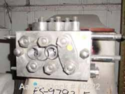 "Used- Gaulin Homogenizer, Model 40E, Stainless Steel. Capacity 40 gallons per hour. Size 3 head. 1-1/2"" threaded inlet/outle..."