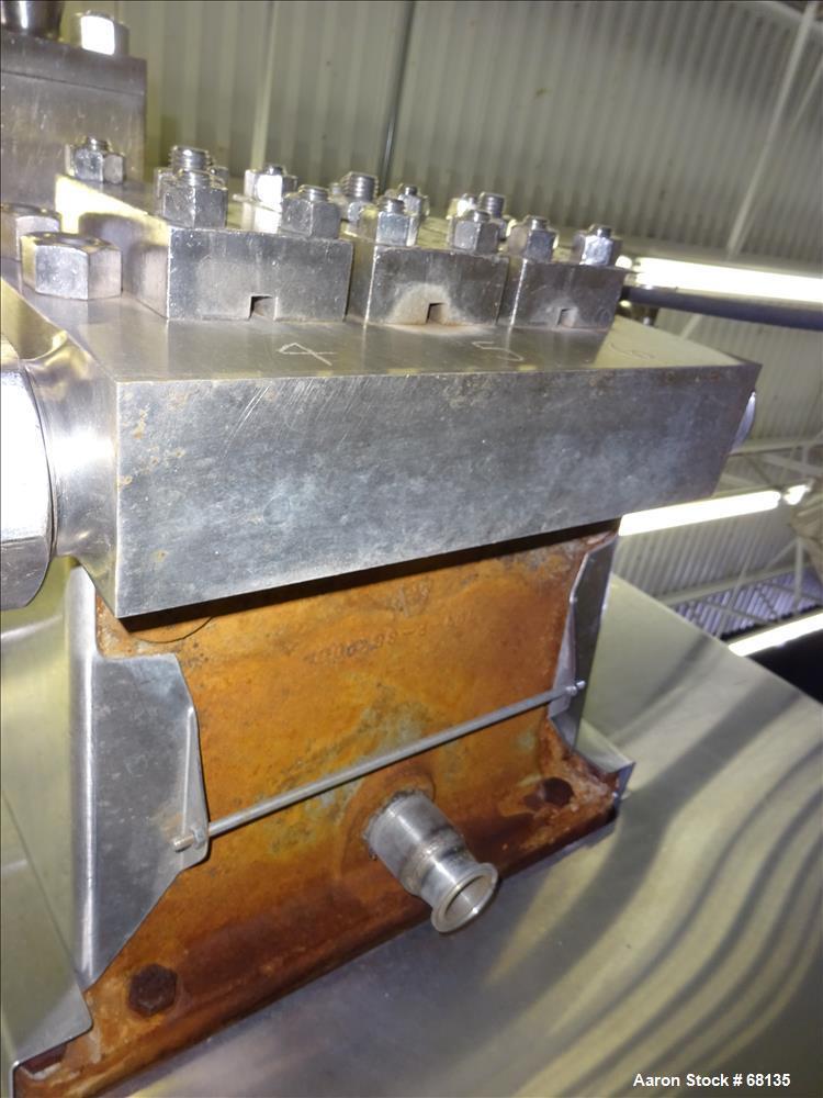 Used- Stainless Steel APV Crepaco Homogenizer, Model 3DL421