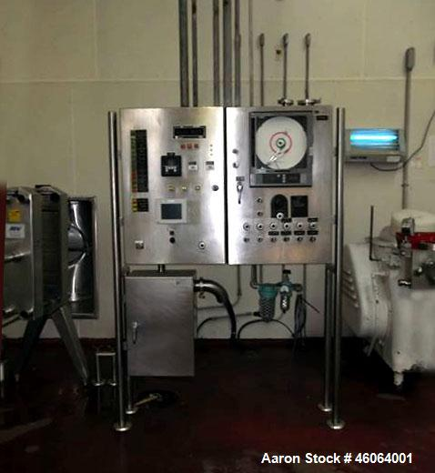 Used- DeLaval Homogenizer. Rated for 6,000 lbs. per hour or 2,600 Liter per hour. Teco Washington motor, 1 1/2 hp Max-se pha...