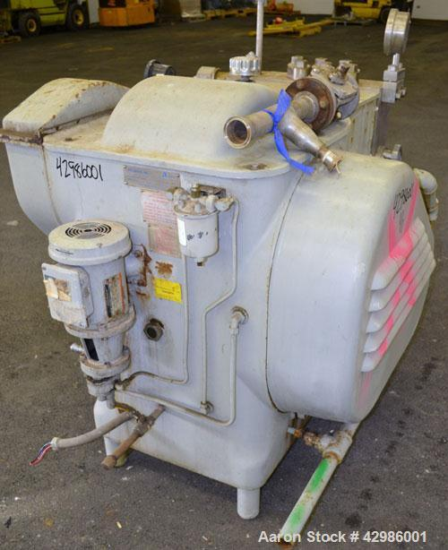 Used- APV Gaulin Homogenizer, Model 10/200 MP6-5TBS, 15-5 PH Stainless Steel. Capacity 200 gallons per hour, 5000 psi maximu...