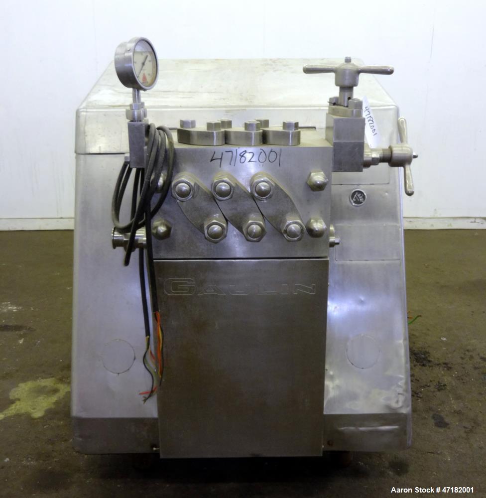 Used- Manton-Gaulin Homogenizer, Model 1163-MF18-3PS