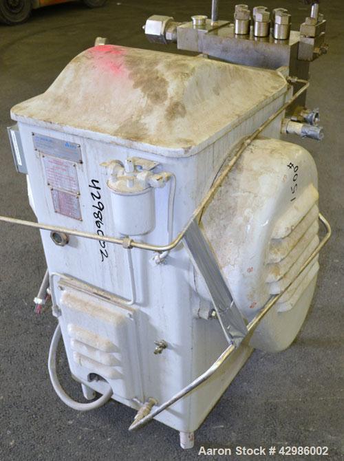 Used- APV Gaulin Homogenizer, Model 150-75 MP3-5TBS, 15-5 PH Stainless Steel. Capacity 150 gallons per hour, 3000 psi maximu...