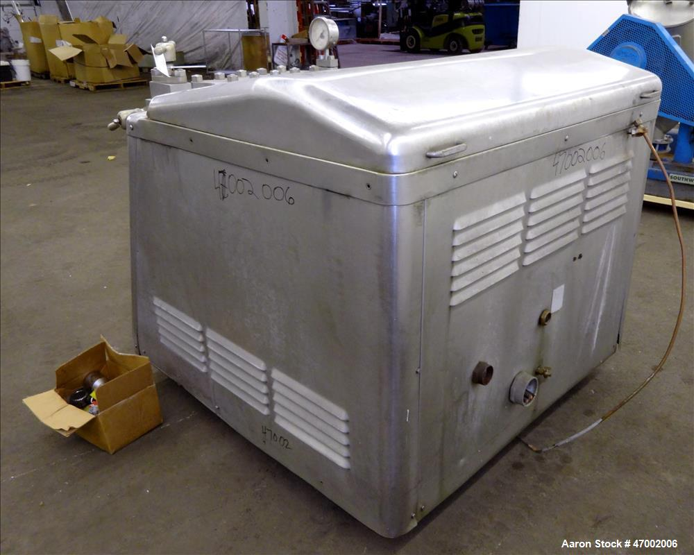 Used- APV Gaulin Homogenizer, Model 1500 M30 2.5 PS, 304 Stainless Steel.